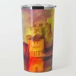 Red and Green Butrón Castle Travel Mug