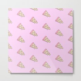 CHEESY PIZZA Metal Print
