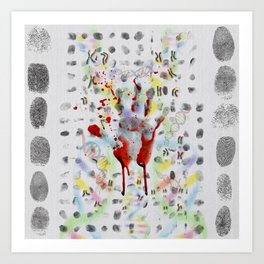 DNA signature is the fingerprint that can be used to identify us Art Print