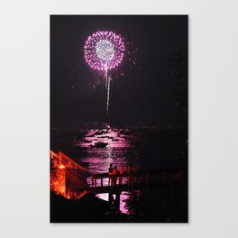 Marblehead Fireworks Canvas Print