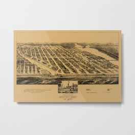 Map Of Asbury Park 1881 Metal Print