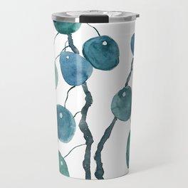 Chinese money plant watercolor Travel Mug