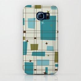 Mid-Century Modern (teal) iPhone Case