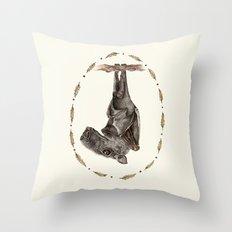 The Hammer Headed Fruit Bat Throw Pillow