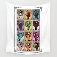 nouveau Wall Tapestries featuring Heroines (Nouveau) by Andrew Formosa