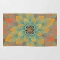 lotus flower Area & Throw Rugs featuring Lotus by HK Chik
