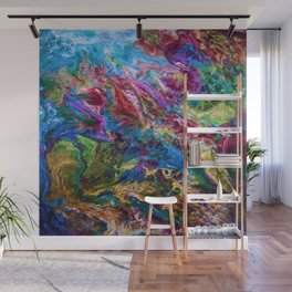 Calypso Abstract Painting by OLena Art Wall Mural