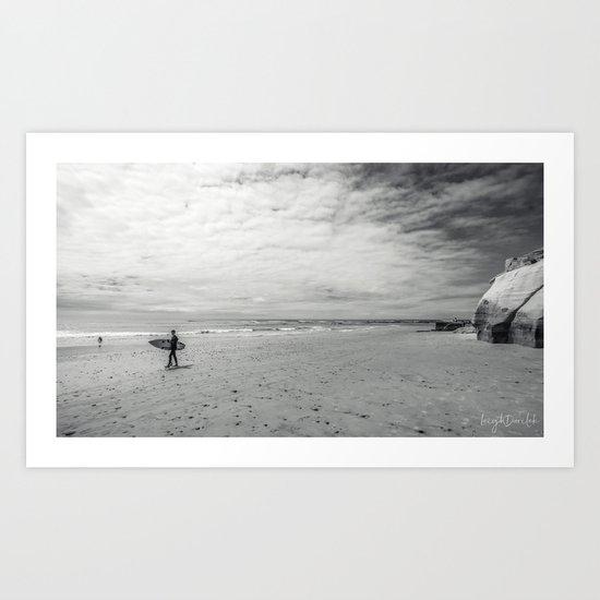 surfer on solana beach, san diego, california by leighdarilek