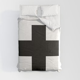 Swiss Cross Scandinavian Plus Sign Nordic Art Design Home Decor Comforters