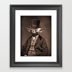 Portrait of Sir Yoda Framed Art Print