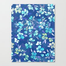 Grown Up Betty - blue watercolor floral Canvas Print