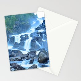 Uchar Waterfall on the Chulcha River, The Big Chulchinsky. Altai, Russia Stationery Cards