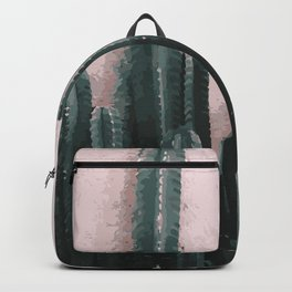 Cactus on Pink Background Backpack