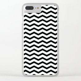 Simple black and white zigzag. Clear iPhone Case