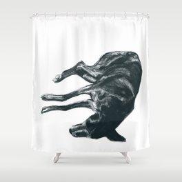 Dog-Tired Shower Curtain