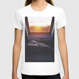 Sunset in bed T-shirt