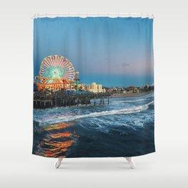 Wheel of Fortune - Santa Monica, California Shower Curtain