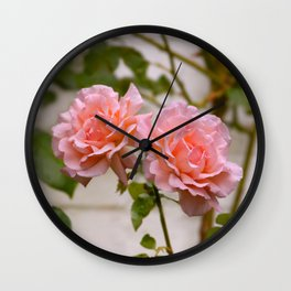 Pair of Roses Wall Clock