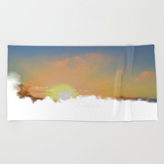 Sunset Lake Murray, La Mesa, California (Copyright) Beach Towel