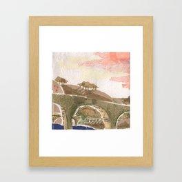 Medieval town - 4 Framed Art Print