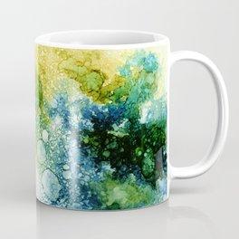 blue green and teal rays Coffee Mug