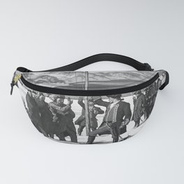 retro old Pittsburgh poster Fanny Pack