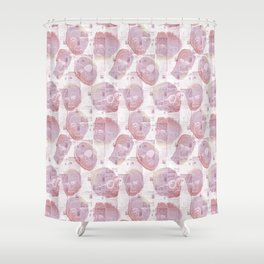 Israeli Leaders: Pattern 1 Shower Curtain