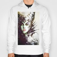 maleficent Hoodies featuring Maleficent by Vincent Vernacatola