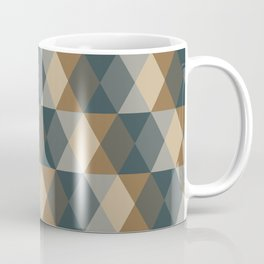 Caffeination Geometric Hexagonal Repeat Pattern Coffee Mug