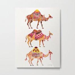 Camel Train Metal Print