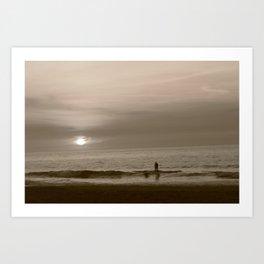 Lone Surfer. Art Print