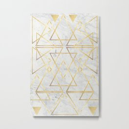 wire gOld triangle Metal Print