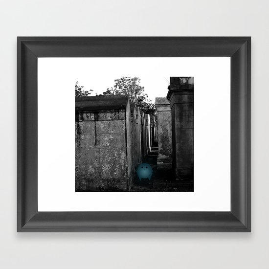 Silence in the City of the Dead Framed Art Print