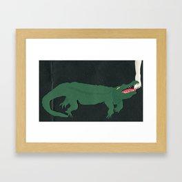 Alligators Under the Bed Framed Art Print