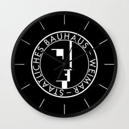 BAUHAUS LOGO / BLACK Wall Clock