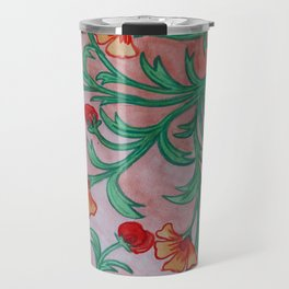 Orange florals Travel Mug