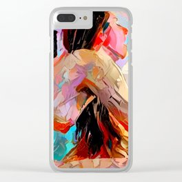 Touch Me Deeply Clear iPhone Case