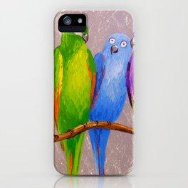 Parrots friends iPhone Case