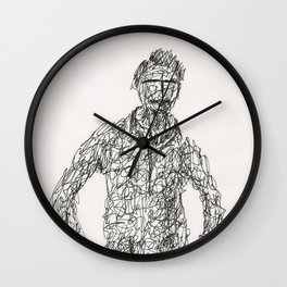 Tribute to Amadeo Modigliani by Tade Garben Wall Clock