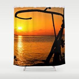 Sunrise The Maldives Shower Curtain