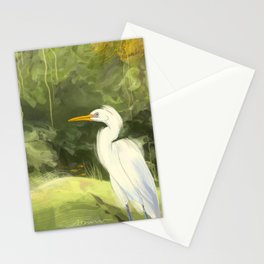 Wisteria With Heron Stationery Cards