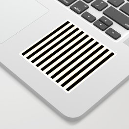 Luxury black and white striped pattern, with thin gold lines. Sticker