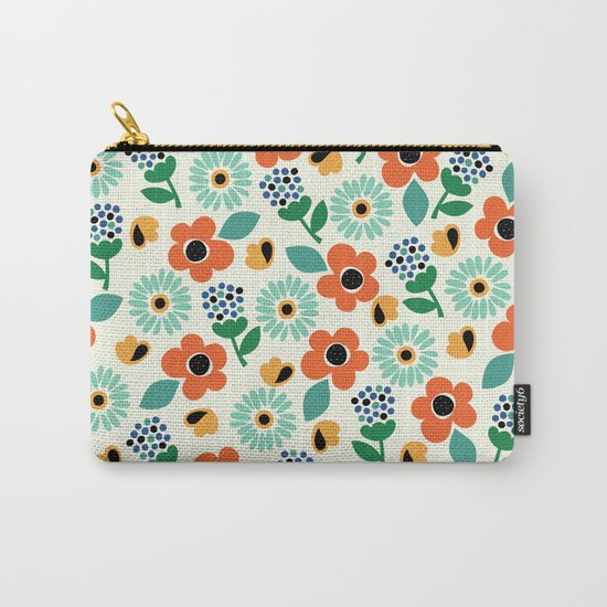 Floral Time Carry-All Pouch