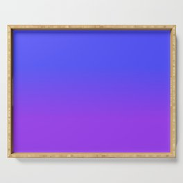 Neon Purple and Bright Neon Blue Ombré Shade Color Fade Serving Tray