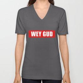 Wey Gud Habesha graphic Eritrea Ethiopia Gift Idea print Unisex V-Neck
