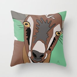 She-Goat / Chilleria Palmera Throw Pillow