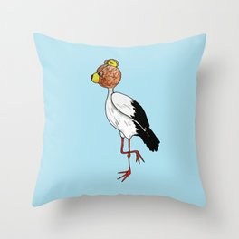 Teddy Stork Throw Pillow