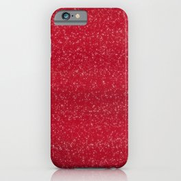 Red Glitter iPhone Case