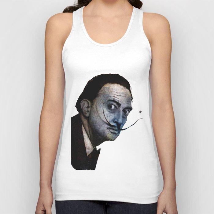 Salvador Dalí. (colored version) Unisex Tank Top