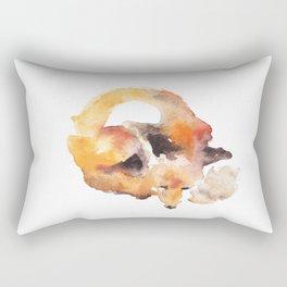 Watercolor Fox Rectangular Pillow